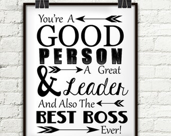 Gifts for boss office organizer boss gift personal youre a good person a great leader and also the best boss ever negle Choice Image