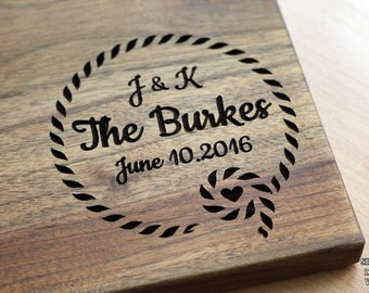 Personalized Cutting Board Monogram Cutting Board Wedding Gift Engagement Gift Anniversary Gift Wedding Gift ideas Wood Cutting Board #39