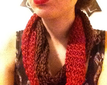 Knitted Thin Infinity Scarf