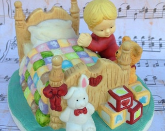 Vintage Bedtime Prayer Figurine by Kathy Lawerence