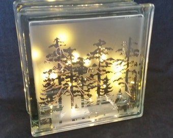 Forest Glass Block Accent Light