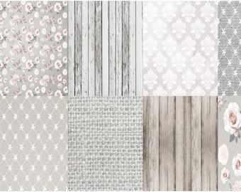 Erin Condren Planner Stickers 8 Full Boxes - Rustic Wedding Design