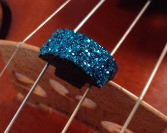 Blue Glitter Violin Mute