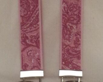 Key Fob Wristlet - Pink Paisley