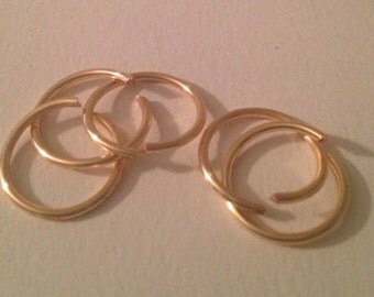 16 Gauge Gold Hoop Cartilage Earrings