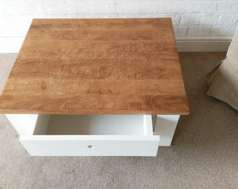 American black walnut topped coffee/end table.Free Delivery main land UK