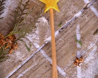 Wooden Star Wand / Pretend Play Waldorf Toy