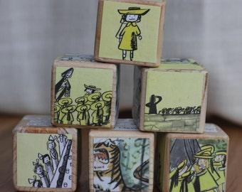 6 Madeline Wooden Blocks