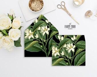 Envelope Liner , Floral and Leaves Envelope Liner , Vintage Envelope Liner , 6 Sizes Envelope Liner