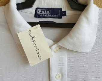 Polo Ralph Lauren Longsleeve White T-Shirt Size L