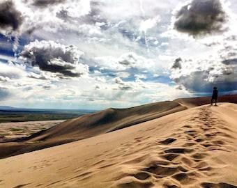 Man at Grand Sand Dunes
