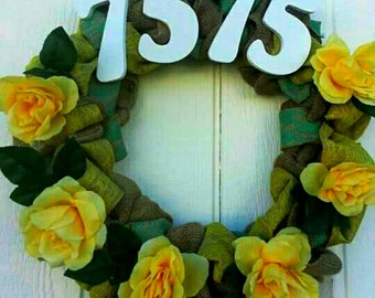 Custom address wreath