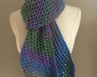 Knitted Winter Lacy Scarf Handmade Accessories Ready To Ship