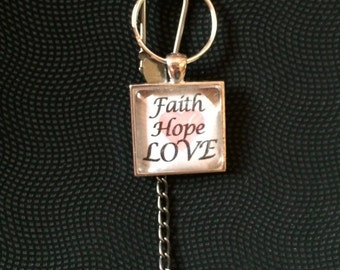 Keychain- Hope, Faith, Love