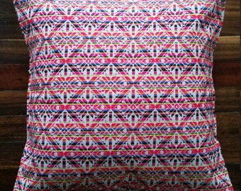 Woven boho, aztec, colourful cushion cover