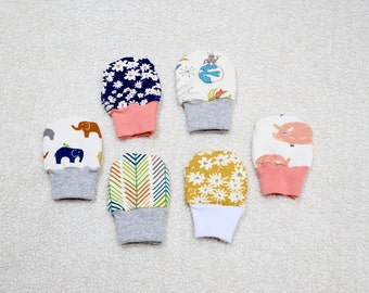 Organic Cotton Knit No scratch baby mittens Baby Mittens, Boy/Girl Gloves, Soft Organic Baby Mittens, Baby Gift
