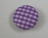 6 pk, 20mm Button, Plaid, Gingham Buttons, Fabric Covered Buttons Sewing Notions, 2 Hole Buttons, Decorative Buttons, Knitting, Crafts
