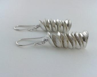 EARRINGS. Sterling silver  ARETES. Plata de 1000 (ar006)