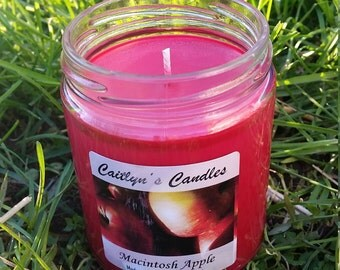 Macintosh Apple Candle | Apple Candle | Apple Soy Candle | Macintosh Candle | Red Candle | Macintosh Soy Candle | Soy Wax Candle | Handmade