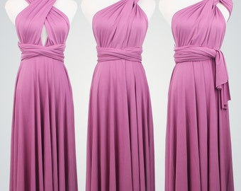 Convertible Dress,Grape Bridesmaid Dress,Short Convertible Dress,Infinity Dress,Maid of Honor,Multiway Dress,Purple Dress,Short Dress