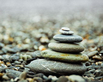 Balance - Pebble - Pebble Photo - Balance Photo - Nature Photo Print - Digital Photo - Digital Download - Instant Download - Relaxation