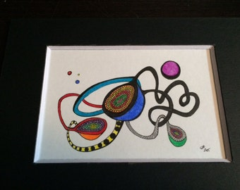 Abstract Drawing--Molecular Geodes