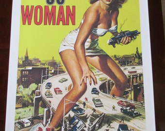 Attack of the 50ft Woman Movie Poster 24x36in scifi