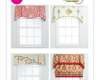 Easy roman shade etsy for Professional window treatment patterns
