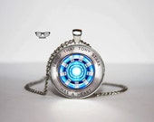 Iron man Necklace, Arc reactor pendant, Tony Stark ,Art Gifts, for Her, for him