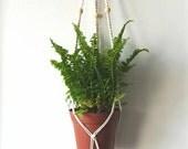 Gardener was suspended in macrame [vintage wallhanging, handmade macrame decor, wedding, chic boho bohemian, fiber art, plant hanger]