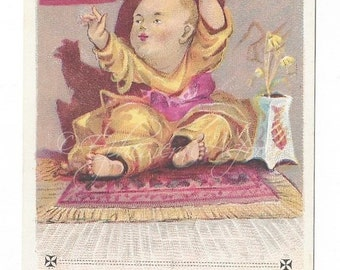 Frear's Kid Gloves Victorian Trade Card