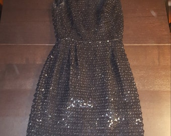 Black Sequin Dress and Jacket