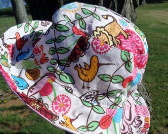 Child's Safari Animal Sun Hat 28 reversible bucket hat beach hat ready to ship bucket hat