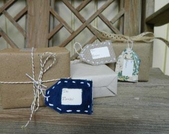 Reusable Fabric Gift Tags
