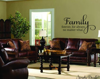 Family Wall Decal, Living Room Decal, Family Sticker, Wall Decal, Wall Sticker, Home Decor, Vinyl Wall Decal, Decal, Sticker, Wall Decor