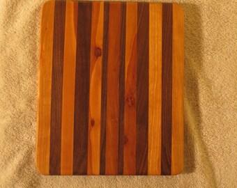 Walnut and apple wood cutting board