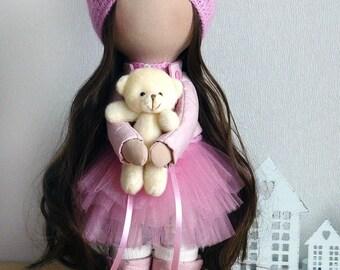 Handmade doll Decoration doll  textile doll Unique doll Tilda doll Handmade Doll Art doll Textile Doll Fabric Doll Home Decoration doll