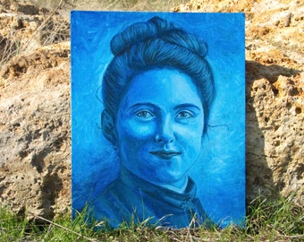 St Therese Little Flower Therese Martin portrait - original handmade french art !