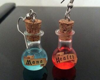 Mana & Health Potion Earrings