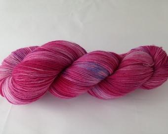 Superwash sock yarn with nylon hand dyed