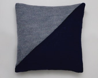 Geometric Knit Cushion