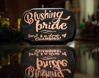 signature drinks sign/ bride and groom