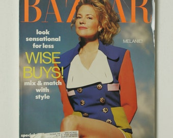 Vintage Harper's Bazaar Magazine November Nov 1990 Fashion