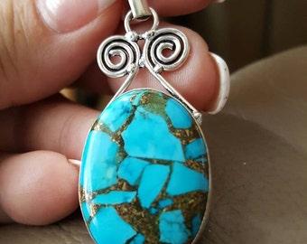Copper Turquoise Pendant!