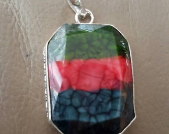 Striped Agate Pendant!!