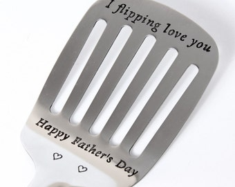 Personalized Spatula, I flipping love you spatula!Christmas Gift! Anniversary gift! Engraved Spatula, Father's Husband Wife Gift Idea