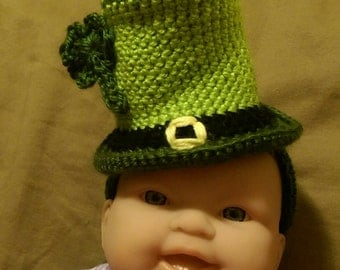 Crochet St. Paddy's Day Mini Top Hat