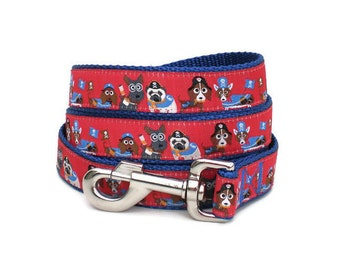 dog leash - pirate dog leash - costume parade large dog leash - dress-up dog leash - cute fun dog leash for halloween with metal hook
