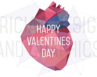 Valentines Day Card - Geometric