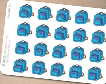 Blue School Bag Planner Stickers Perfect for Erin Condren, Kikki K, Filofax and all other Planners